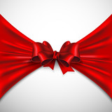 background with red bow
