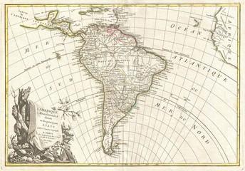 South America vintage map