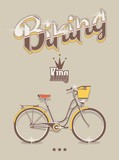 Biking background, vector bicycle king