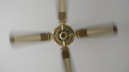 Electric fan on ceiling zooming out