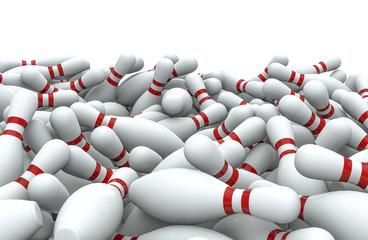 Bowling pins pile