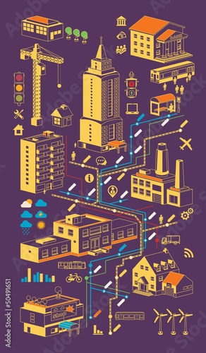 city info graphic,vector background
