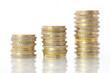 Umsatzsteigerung - Konzept Münzen