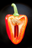 Red bell pepper halved