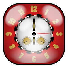 Creative Design Clock With Chronometer