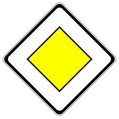 Verkehrszeichen Vorfahrtsstraße Vektor