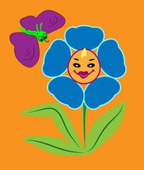 Smiling flower.
