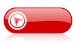 navigation red web glossy icon