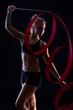 Artistic photo of rhytmic gymnastics