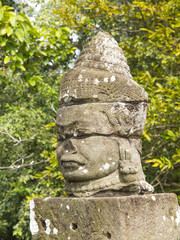 Ancient statue of Khmer God