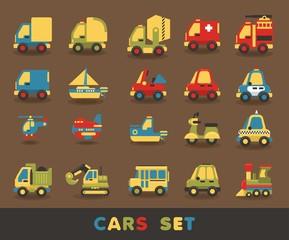 colorful car set, vector elements