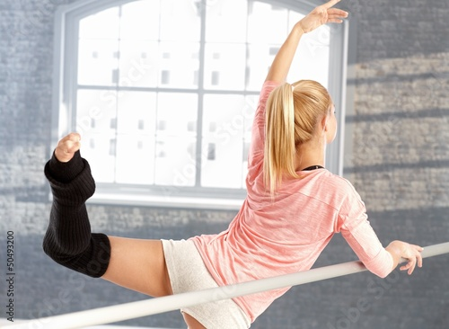 Young dancer practicing