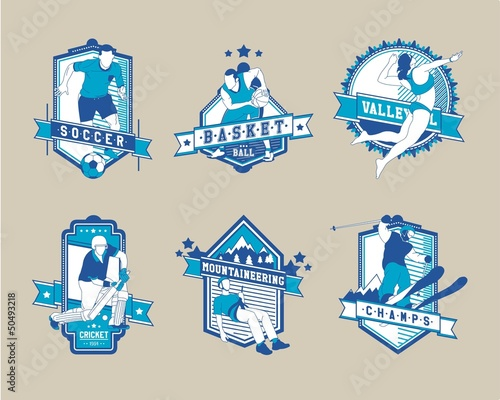 sports label,vector background