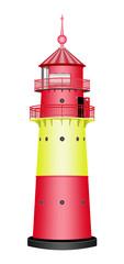 Leuchtturm, rot, gelb