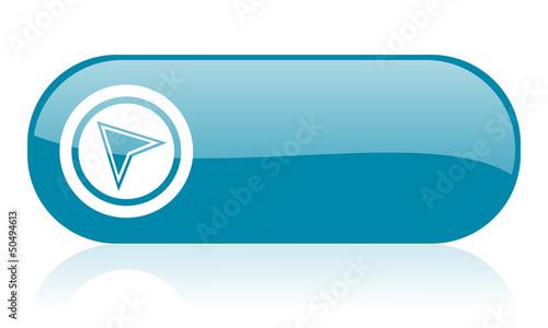 navigation blue web glossy icon