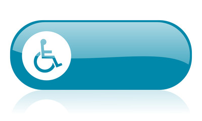 accessibility blue web glossy icon