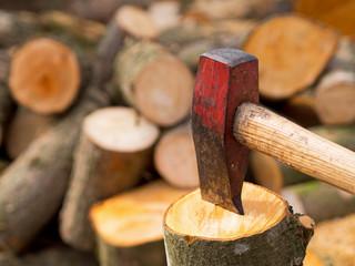 Holz hacken - Spalthammer