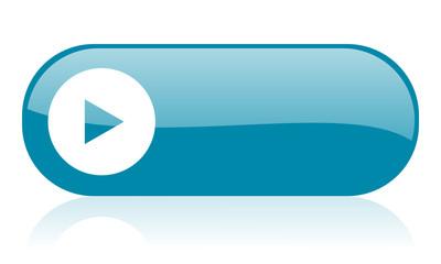 play blue web glossy icon
