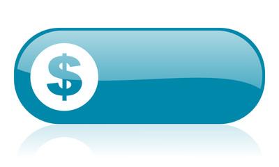 us dollar blue web glossy icon