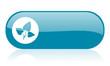eco blue web glossy icon