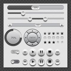 Web White User Interface Set