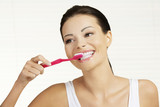 Fototapety Woman  holding tooth brush