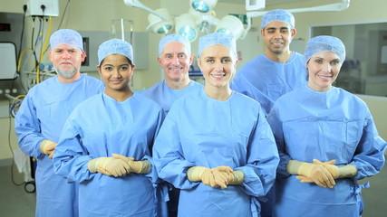 Portrait Multi Ethnic Surgical Team