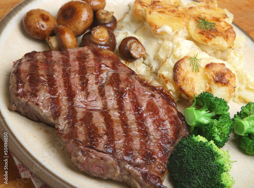 Sirloin Steak Dinner with Dauphinois Potatoes