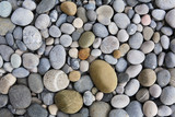 Fototapety background with round peeble stones