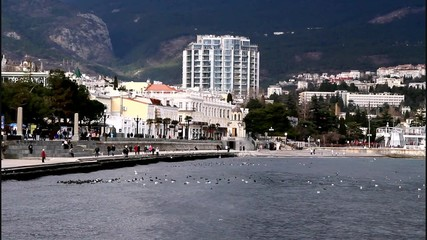 Yalta embankment and water area