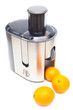 Juicer and oranges
