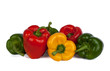 Roter, grüner und gelber Paprika VI