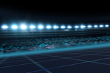 Racetrack night spotlights 3D background