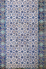 Tile wall decoration of  Rustem Pasha Mosque, Istanbul, Turkey