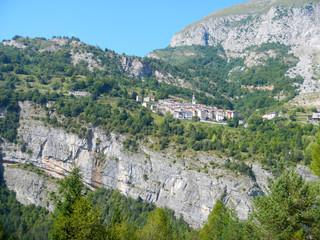 Small village on the rocks