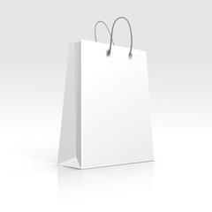 Empty Shopping Bag on White Background