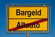 Wechselschild ohne Pfeil AUTO - BARGELD