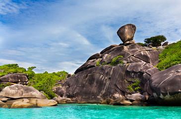Les rochers des iles Similans - Thailande