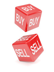 Buy and sell red dice falling