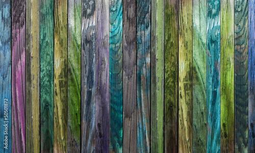 Panorama planches de bois multicolores