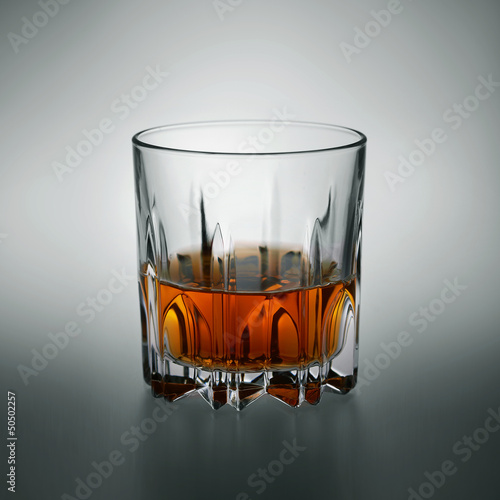 Glass of scotch whiskey