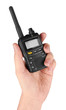Portable radio transceiver