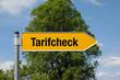 Gelber Pfeil mit Baum TARIFCHECK