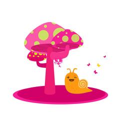 Cute Snail - Kid Illustration