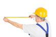 worker with measuring tape