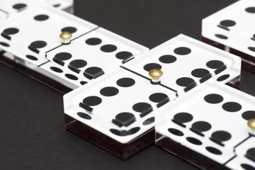 Dominoes on Black