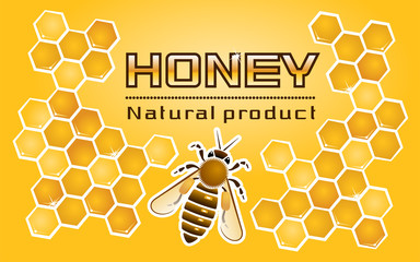 Composition of the honey bee and honeycomb with the title