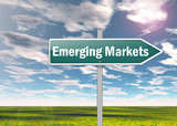 "Signpost ""Emerging Markets"""