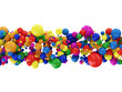 Abstract Illustration of Colorful Balls isolated on white