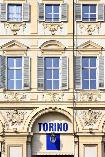 Piazza San Carlo in Turin (Torino) baroque architecture